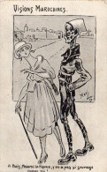 "Cpa 1917, ""visions Marocaines""  FEZ La Nuit, Dessin De ""maxi 16""  (42.92) - Humor"