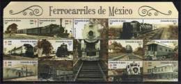 MEXIQUE. Chemins De Fer Mexicains . Locomotives A Vapeur.  15 T-p Neufs ** - Treinen