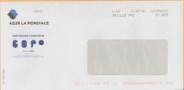 LG2 La Poste 59 Lille PIC CI 1975 Sur Env AG2R Partenaire Candidature France Expo Universelle 2025 - Marcophilie (Lettres)
