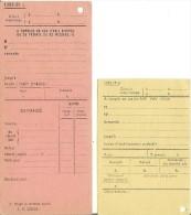 Ancien Formulaires T�l�phone remplient par les op�ratrices au standard Bon Etat