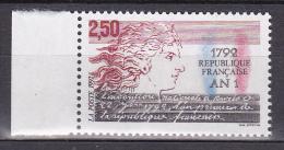 N° 2771  1792 1 An De La République Française: Allégorie De La République Et Texte - France