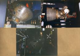 3 Photos Espace Moteur Fusée Capsule - Non Classés