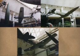 3 Photos Fusées Avion Spitfire FockeWulf Mustang - Aviation