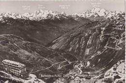SUISSE,HELVETIA,SWISS,SCH WEIZ,SVIZZERA,SWITZERLAND ,BELVEDERE FURKA,alpes Suisse,col,glacier Du Rhone, - Suisse