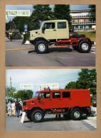 2 Photos Camion Militaire ? Photos Prises Au Shape - Militaria