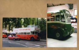 2 Photos Bus Anglais - Transports