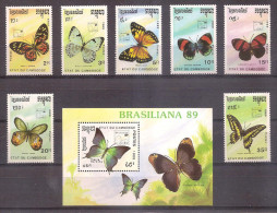 Cambodia 1989 - Butterflies - Cambodia