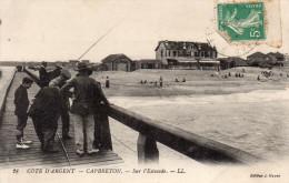 Cpa 1906 CAPBRETON, Landes, Sur L'estacade, Pêcheurs Et Promeneurs, Dunes, Belles Villas (42.99) - Capbreton