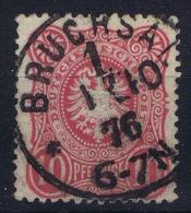Germany: 1875 Mi. Nr 33 Aa Used Dunkel Karmin Rot, Bruchsal, - Deutschland