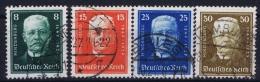 Germany: 1927 Mi. Nr 403 - 406, Used, - Gebraucht