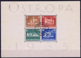 Germany: 1935 Mi Nr 576 - 579, BLOCK 3  Used  Ostropa - Deutschland
