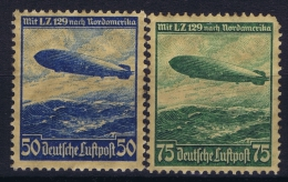 Germany: 1936 Mi Nr 606 - 607 MNH/** Brown Original Gum! - Ungebraucht