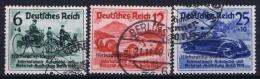 Germany: 1939 Mi Nr 695 - 697 Used, Nürburgring Rennen - Gebraucht