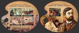 nig14122ab Niger 2014 Painting Henri de Toulouse-Lautrec 2 s/s