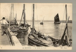 CPA 80 LE HOURDEL La Sortie Du Port , Bateau , Animée - Le Hourdel