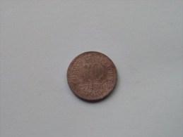 1919 - 10 Pfennig / KM 26 ( For Grade, Please See Photo ) ! - 10 Pfennig