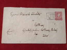 Brief Altdeutschland Asbach R.B. Coblenz Koblenz Rhein 1875 - Usati