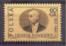 Poland 1966 - Henryk Sienkiewicz, 50 Years Since Death - 1944-.... Republic
