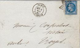 Paris : Lettre Avec étoile 8 1868 - 1849-1876: Classic Period