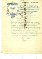 43 - Hte-loire - LE PUY - Facture COTTA-CHAZALON - Issues - Grains – 1931 - REF 2E - 1900 – 1949