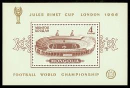 MONGOLIA 1966 MNH** - Football World Championship, Perf. - Mi Bl.11A - Coupe Du Monde