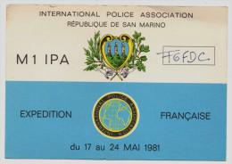 RADIO QSL - SAN MARINO - POLICE Association - Radio Amateur