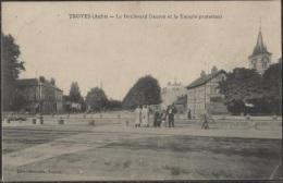 CPA - TROYES - Boulevard DANTON Et Le Temple Protestant - Edition Marquis - Troyes