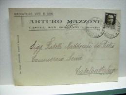 VINO -- UVA - ACCESSORI - CASTEL S. GIOVANNI -- PIACENZA -- ARTURO  MAZZONI -- MEDIATORE VINI