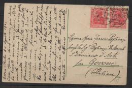 S288.-.GERMANY REICH  - CARD.-  HESSEN 23-8-21 TO ITALY - Deutschland