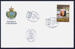 """2013 SAN MARINO """"120 ANNI DEL GENOA CALCIO"""" SINGOLO FDC - FDC"""