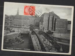 S304.-.GERMANY REICH  - CARD.-  HAMBURG 30-8-33, ARRIVAL CACHET ON BACK.-. PARDUB`CE - Briefe U. Dokumente