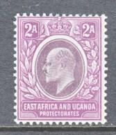 EAST AFRICA & UGANDA  PROTECTORATES  3  *  Wmk 2 CA - Kenya, Uganda & Tanganyika