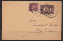 S321.-.GERMANY INFLATION CARD .-. 100  MARKS STAMPS.-. STUTTGART  8-JUL-23 - Briefe U. Dokumente