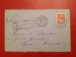Lettre CAMBODGE PHNOMPENH Pour LYON 1928 - Cambodge