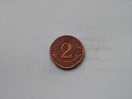 1924 A - 2 RentenPfennig / KM 31 ( Uncleaned Coin / For Grade, Please See Photo ) !! - 2 Rentenpfennig & 2 Reichspfennig