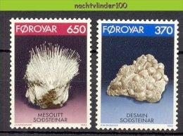 Mrc050 MINERALEN GEMSTONES MINERALIEN UND GESTEINE MINÉRAUX FOROYAR 1992 PF/MNH - Mineralen