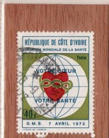 REP. DE  COTE  D' IVOIRE  --  JOURNEE  MONDIALE  DE LA  SANTE    --  **  40 F. ** --  POSTE  1972  --  BEG - Ivory Coast (1960-...)