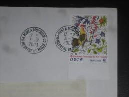 PONT A MOUSSON CC - MEURTHE ET MOSELLE - CACHET ROND MANUEL SUR YT 3629 - COQ ENLUMINURE OISEAU BIRD COCK ROOSTER - - Storia Postale
