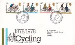 1978 - Cycling - Cyclisme - FDC - Cachet Harrogate - FDC