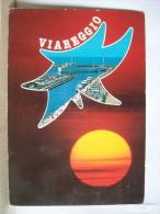 """VG 1987 - Viareggio - Tramonto - Porto - Nave """" Carticra Di Arbatax """" - 2 Scans - Viareggio"""