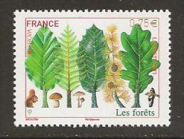 "FRANCIA // FRANCE - EUROPA 2011 -TEMA ANUAL  "" BOSQUES"".- SERIE De 1 V.  -  DENTADO  (PERFORATED) - 2011"