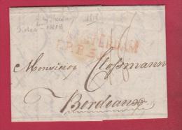 PAYS BAS  //  Lettre De Amsterdam   //  Pour Bordeaux     //   9 Dec 1818 - Netherlands
