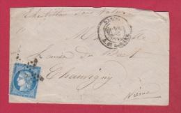 Enveloppe  De Paris   //  Pour Chausigny     //  Cachet étoile - 1849-1876: Klassik