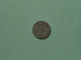 1939 - 10 Kopek / Y# 109 ( Uncleaned - For Grade, Please See Photo ) ! - Russie