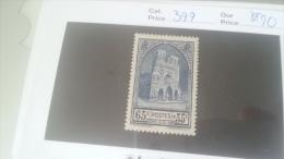 LOT 216427 TIMBRE DE FRANCE NEUF** N�399 VALEUR 20 EUROS LUXE