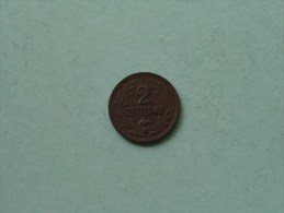 1946 - 2 Centesimos / KM 20a ( Uncleaned - For Grade, Please See Photo ) ! - Uruguay