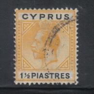 AP326 - CIPRO , Unificato N. 73 . Fil CA Multi Corsivo - Cipro (...-1960)