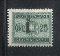 W958 - R.S.I. , Segnatasse Il 25 Cent N. 63  *  Linguellato - 4. 1944-45 Repubblica Sociale