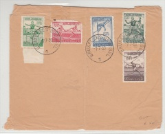 BELGIUM FDC 01/07/1950 COB 827/31 ATHLETISME EUROPE HEYSEL - ....-1951