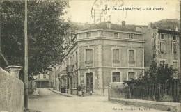 LE TEIL ARDECHE  LA POSTE  EDIT. NICOLAS ECRITE CIRCULEE 1925 DOS VERT - Le Teil